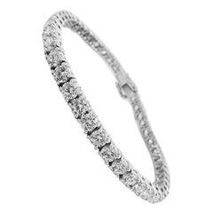 White Gold Brilliant Cut Tennis Bracelet, Ref 10.92 Carat