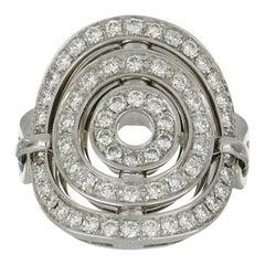 White Gold Bulgari Astrale Cerchi Ring