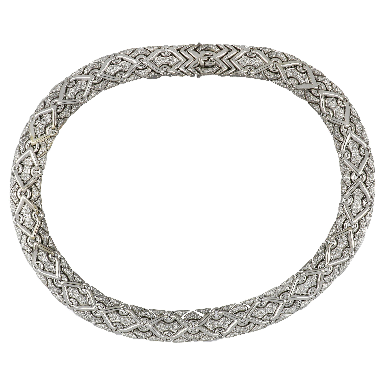 White Gold Bulgari Trika Diamond Necklace