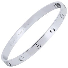 White Gold Cartier Love Bracelet
