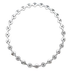"White Gold Cartier Necklace ""Himalia"" Collection Set with Diamonds"