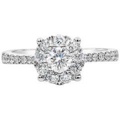 Roman Malakov, White Gold Cluster Diamond Engagement Ring