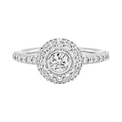 White Gold Cocktail Ring with Diamonds Stambolian