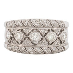 White Gold Diamond Band Style Ring