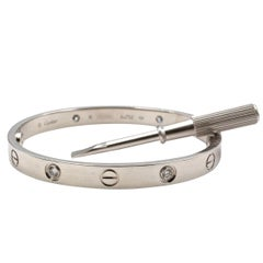 White Gold Diamond Cartier Love Bracelet