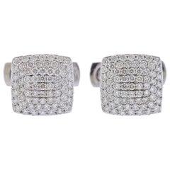 White Gold Diamond Cufflinks