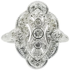 White Gold Diamond Dinner Ring