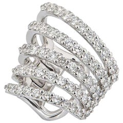 White Gold Diamond Ear Cuff 1.60 Carat