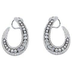 White Gold Diamond Earrings by Casato