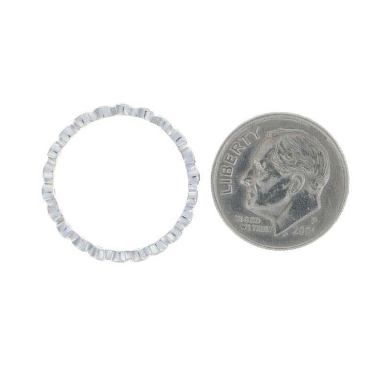 White Gold Diamond Eternity Ring, 18 Karat Round Cut .31 Carat Wedding Band For Sale 2