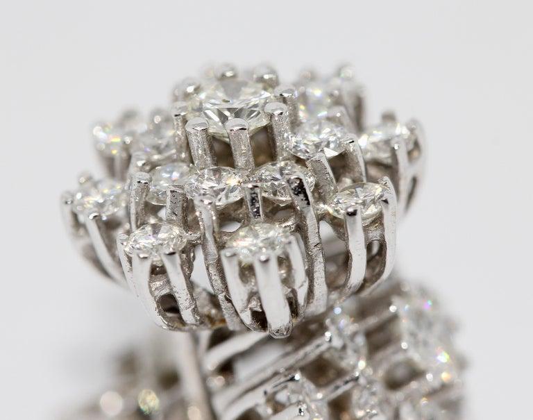 Modern White Gold, Diamond Stud Earrings For Sale