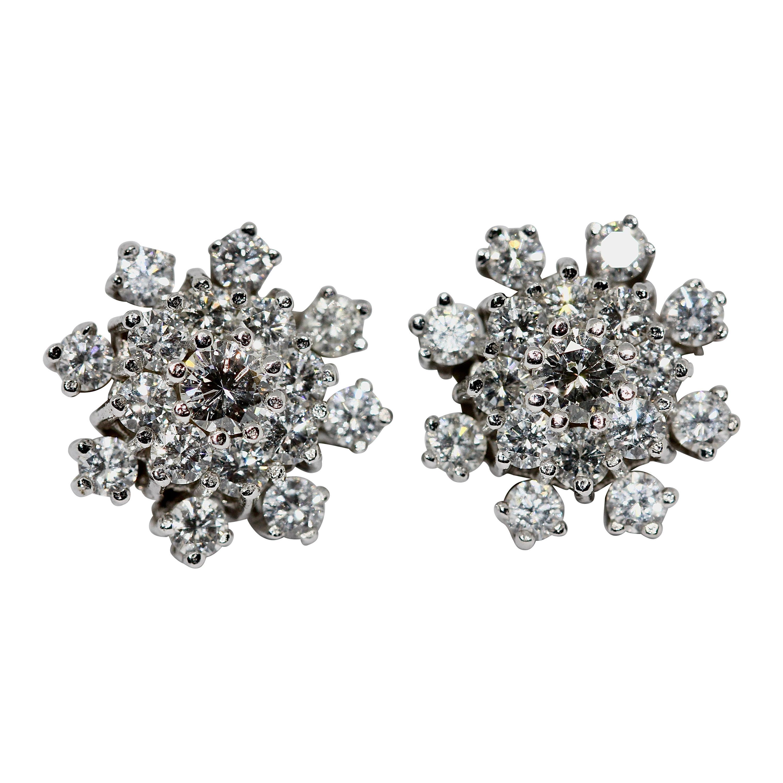 White Gold, Diamond Stud Earrings