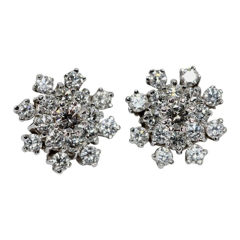 White Gold, Diamond Stud Earrings For Sale
