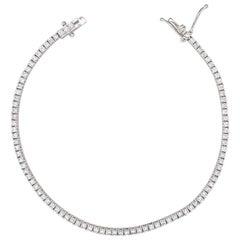 White Gold Diamond Tennis/Line Bracelet