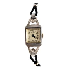White Gold Diamond Vintage Cypress Ladies Wristwatch