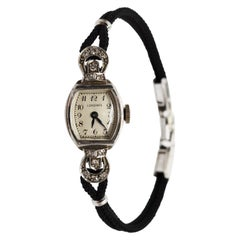 White Gold Diamond Vintage Longines Ladies Wristwatch