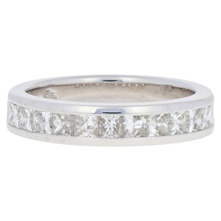 10k White Gold Mens Diamond Wedding Band 3//16 inch wide