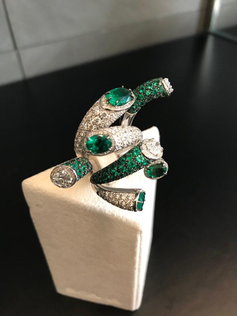f8046f7dcbe67 White Gold Diamonds Emerald Pave Ring