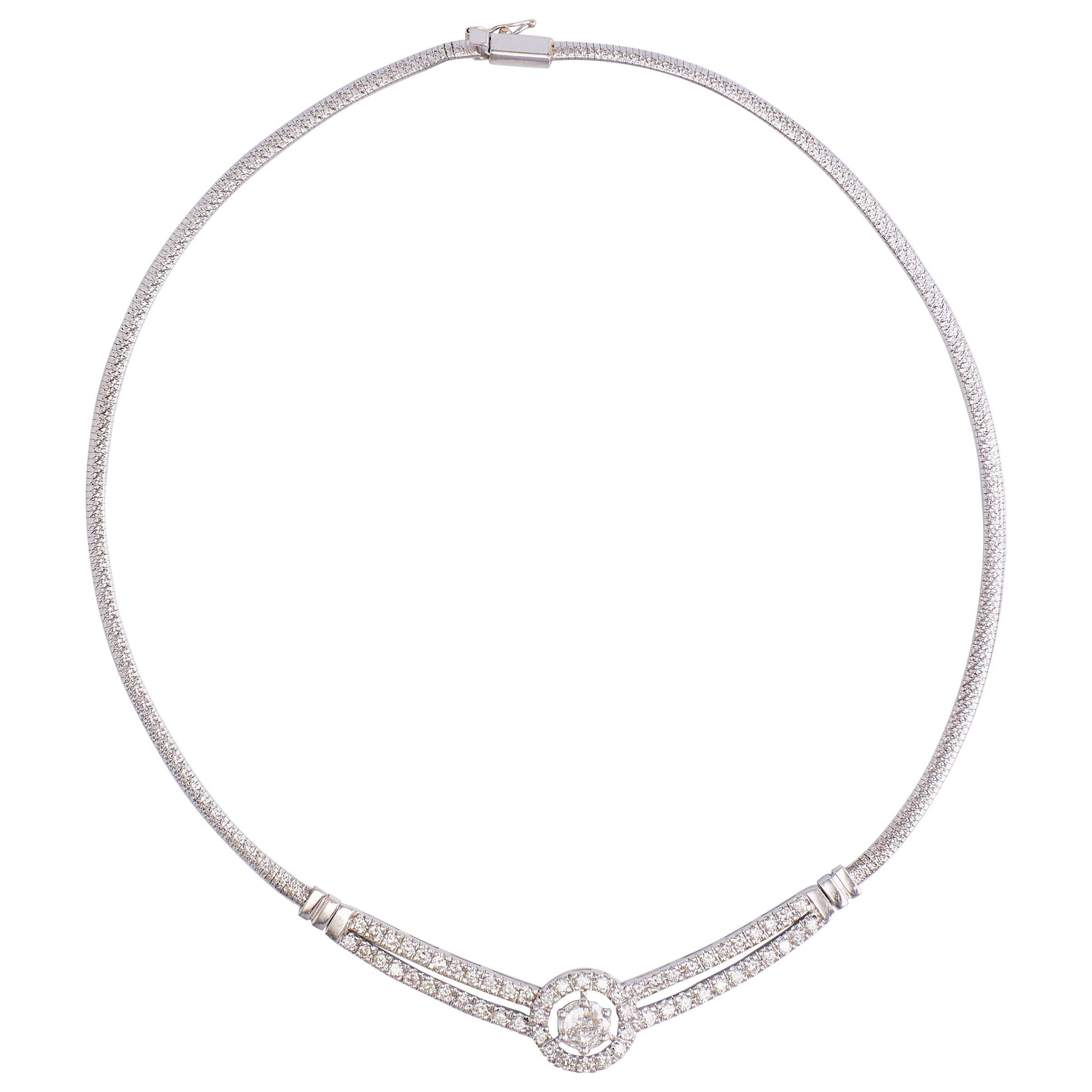 White Gold Diamonds Necklace
