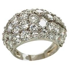 White Gold Dome Diamond Ring