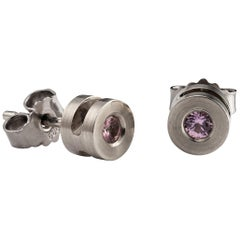 White Gold Earrings with Pink Tourmaline