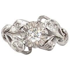 White Gold Edwardian Inspired Diamond Ring
