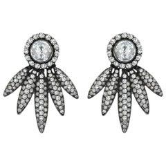 White Gold Icy Diamond Rose Cut Diamond Earring