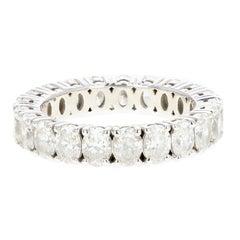 White Gold Oval 4.4 Carat Diamond Eternity Band