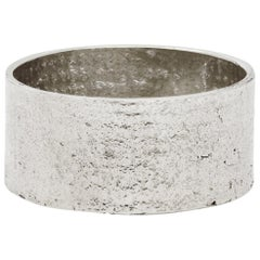 White Gold Paper Cigar Ring by Allison Bryan