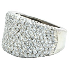 White Gold Pave Wide Ring