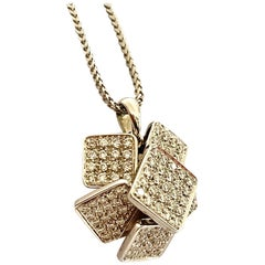 White Gold Pendant Set with 107 Diamonds and a Necklace