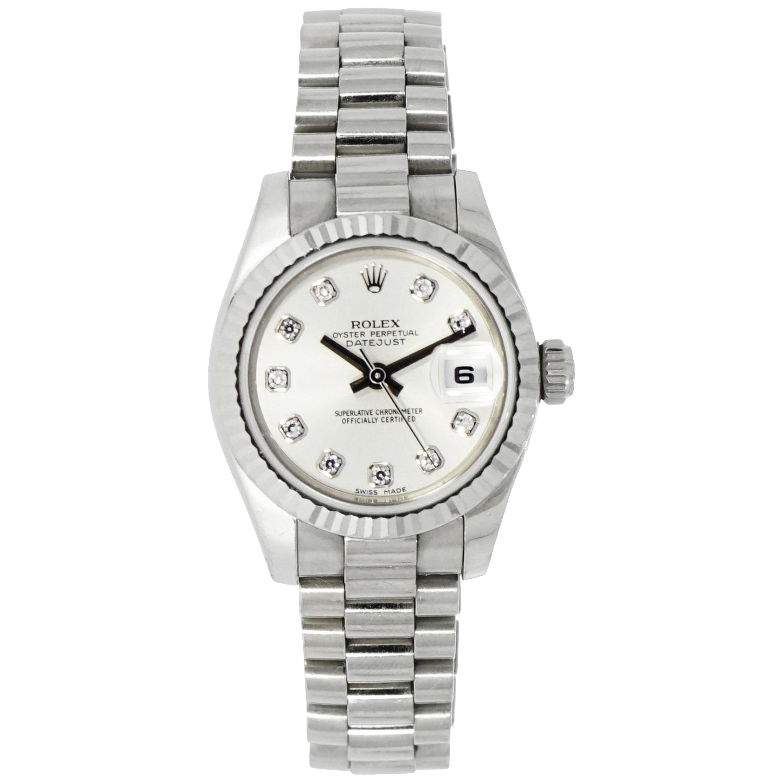 White Gold Rolex Datejust President Ladies Watch