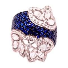 Stefan Hafner White Gold Sapphire and Diamond Ring
