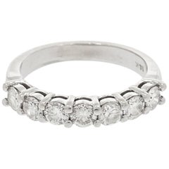 White Gold Seven Diamond Wedding Band