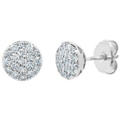 White Gold Stud Earrings with Diamonds