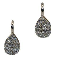 White Gold 18k Teardrop Diamond Earrings