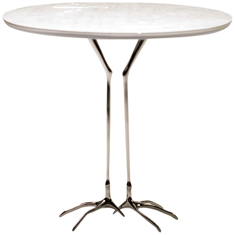 "White Gold ""Traccia"" Table by Meret Oppenheim For Sale"