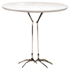 """White Gold """"Traccia"""" Table by Meret Oppenheim"""