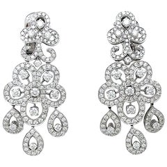 White Gold Van Cleef & Arpels Diamonds Earrings