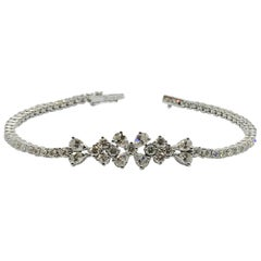 White Gold White Diamond Bracelet