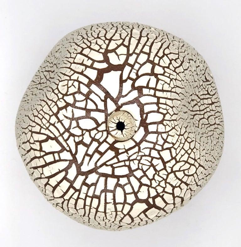 Modern White Hand Made Contemporary Ceramic Vase / Interior Sculpture / Wabi Sabi For Sale