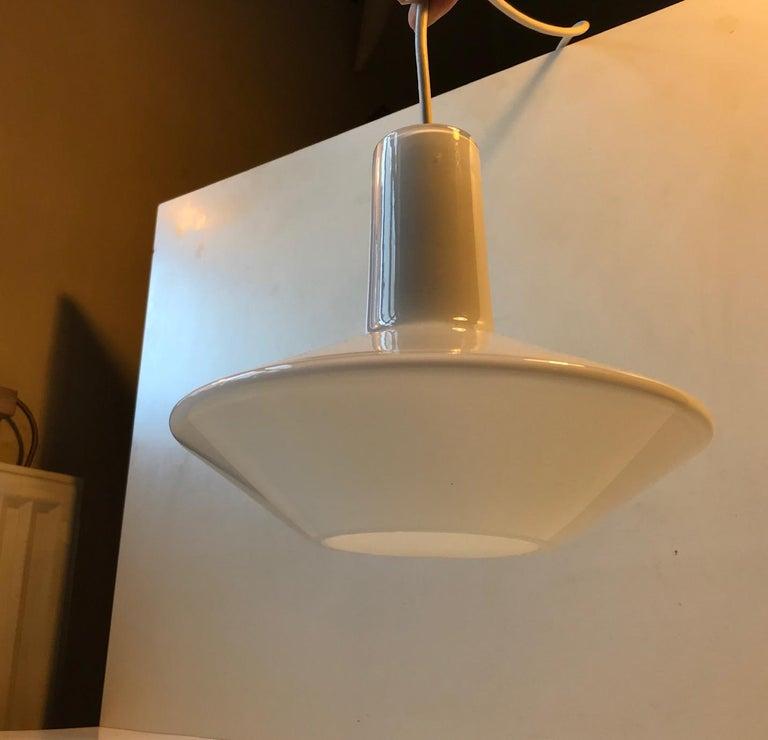 White Holmegaard Opaline Pendant Lamp 'Sinus' by Sidse Werner In Good Condition For Sale In Esbjerg, DK