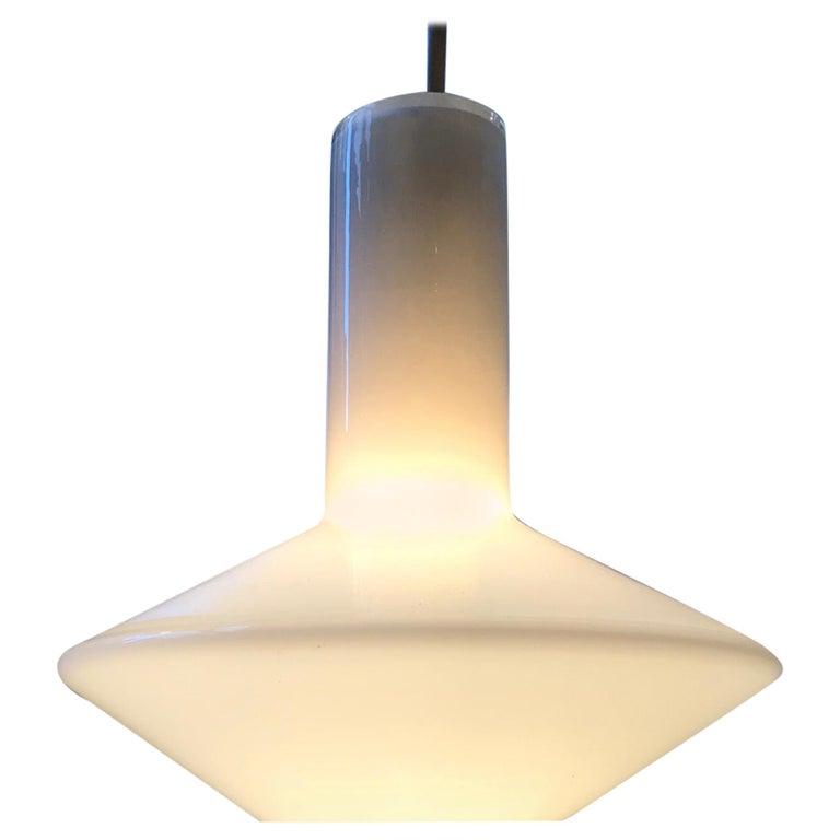 White Holmegaard Opaline Pendant Lamp 'Sinus' by Sidse Werner For Sale
