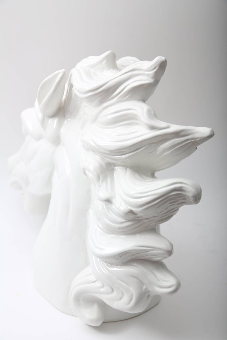 White Horse Head Sculpture For Sale 1