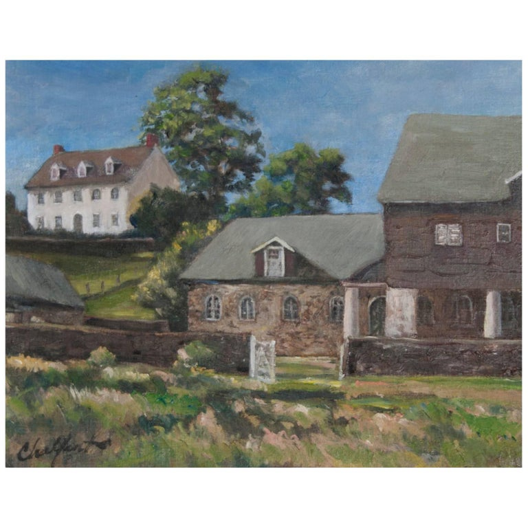 """""""White House"""" Painting by Richard Chalfant For Sale"""