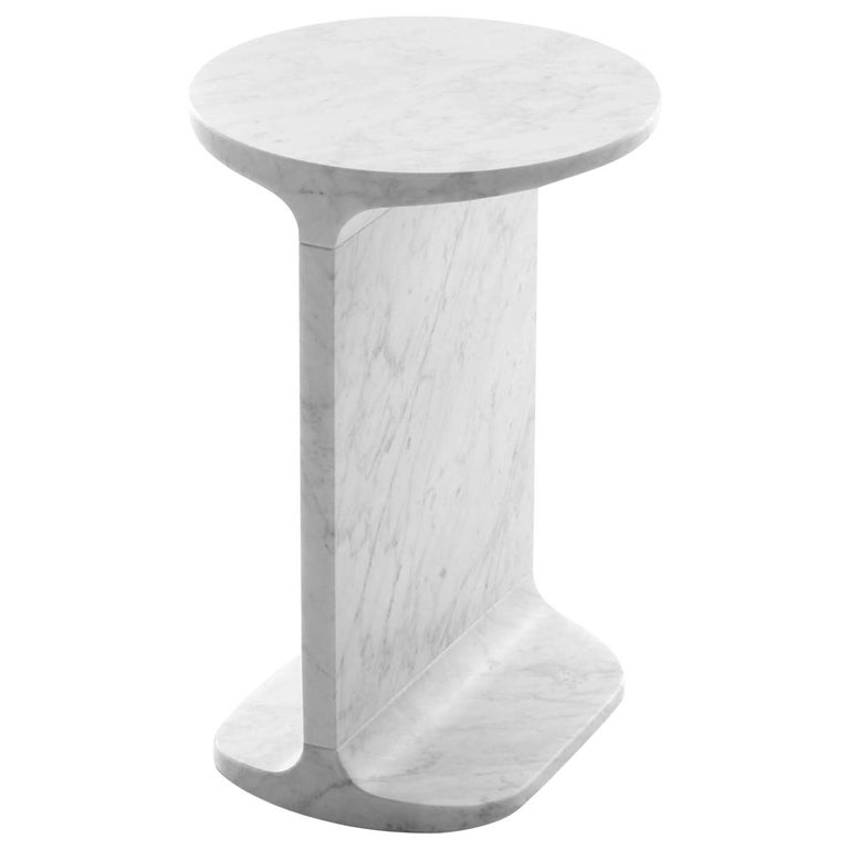 White Ipe Tondo Side Table, Design James Irvine, 2009 For Sale