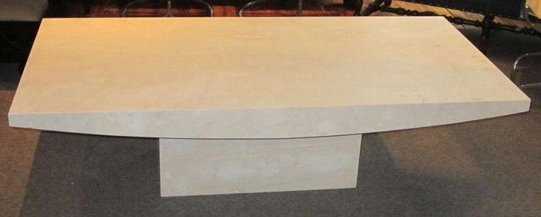 White Italian Travertine Rectangular Coffee Table, Contemporary For Sale 4