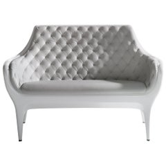 White Jaime Hayon Contemporary Showtime Sofa Lacquered
