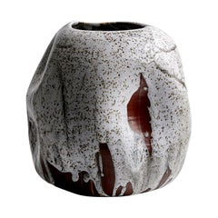 White Japanese Inspired Handmade Ceramic Vase / Wabi Sabi Interior Sculpture