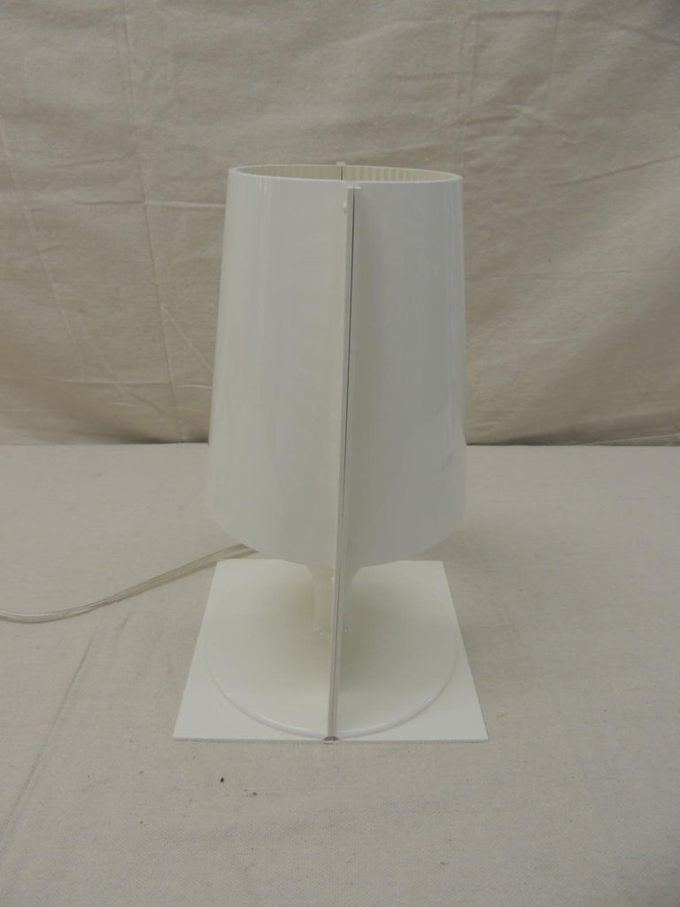 """Modern White Kartell Table Lamp """"the Take"""" by Ferruccio Laviani For Sale"""